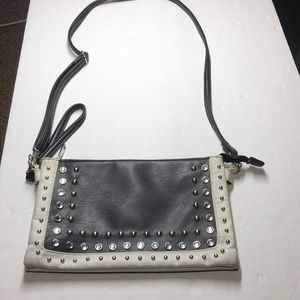 Black & White studded purse